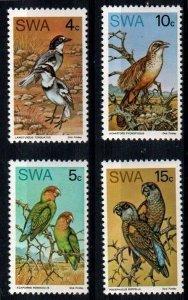 South West Africa SWA 1974- Birds MNH set # 363-366
