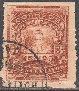 MEXICO 244 3¢ MULITA WMK CORREOSEUM USED F-VF. (149)