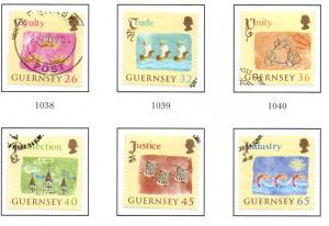 Guernsey Sc 838-43 2004 Crown Loyalty stamp set used