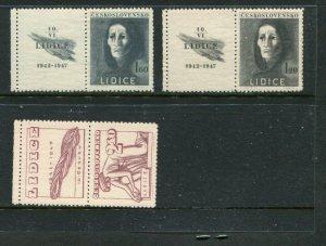 Czechoslovakia #329-31 w/labels Mint