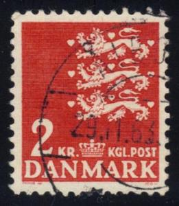 Denmark #298 Small State Seal (Ordinary Paper), used