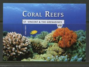 ST. VINCENT GRENADINES  2016 CORAL REEFS SOUVENIR SHEET II  MINT NH