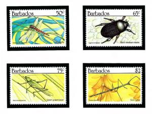 Barbados 784-87 MNH 1990 Insects