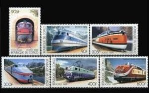 1999 Congo Brazzaville 1684-1689 Locomotives 6,50 €