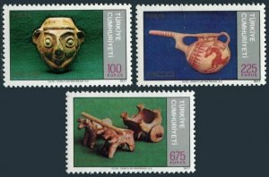 Turkey 2053-2055,MNH. Regional cooperation,1977.Terra cotta pot,jug,bullock.