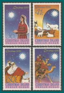 Christmas Island 1989 Christmas, MNH  #242-245,SG279-SG282