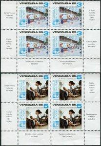 Venezuela 1354-1355 blocks/4,MNH.Mi 2342-2343. Educational Institutions,1986.