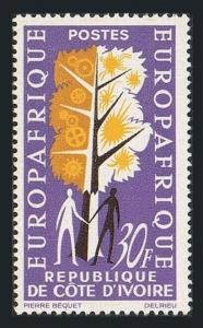 Ivory Coast 217,MNH.Michel 271. EUROPAFRIQUE 1964.Tree of industrial symbols.