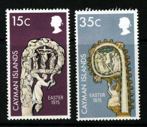 CAYMAN ISLANDS QE II 1975 The Easter Set SG 389 & SG 390 MINT