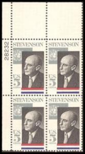 US Stamp #1275 MNH - Stevenson - Plate Block of 4
