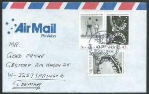 AUSTRALIA 1991 cover to Germany - nice franking - Sydney pictorial pmk.....12851