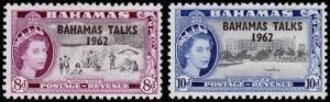 Bahamas Scott 181-182 (1963) Mint LH VF M