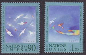 United Nations - Geneva #  327-328, Stylized Birds, NH, 1/2 Cat.