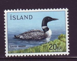 Iceland Sc 388 1967 Common Loon stamp NH