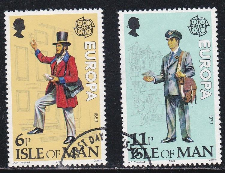Isle of Man # 152-153, Europa '79, Used Set