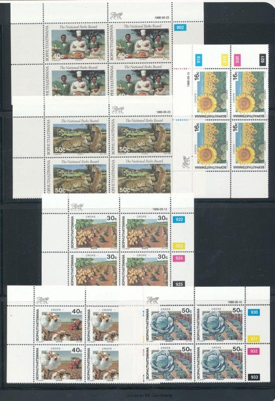 Bophuthatswana 1988/89 Easter Religion Wildlife Blocks MNH (56 stamps) KS1772