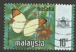 Malaysia-Malacca Scott 78  Used  butterflies