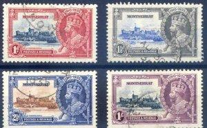 Montserrat 1935 Silver jubilee set Fine Used SG94/97