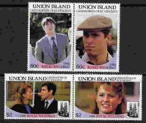 UNION ISLANDS 1986 ROYAL WEDDING STAMPS - MINT CPL SET!
