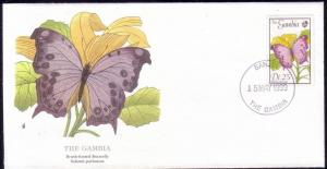 Gambia FDC SC# 839 Brush Footed Butterfly L168