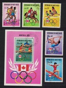 Upper Volta Summer Olympic Games Montreal 5v+MS 1976 CTO SC#C233