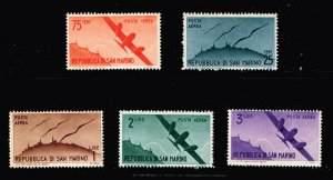 SAN MARINO STAMP MH AIR POST STAMPS COLLECTION LOT