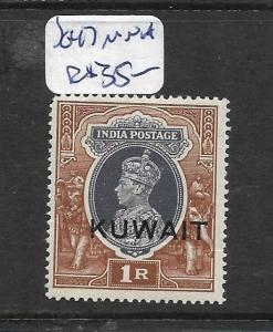 KUWAIT (P01003B)  ON INDIA KGVI  1R   SG 47  MNH