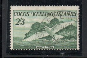 Cocos (Keeling) Islands Sc 6 1963 2/3d  White Tern stamp used