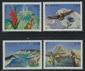 France 1997 National Parks set Sc# 2569-72 NH