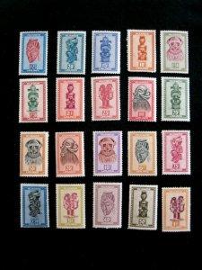 RWANDA  URUNDI - SCOTT# 90-109 - MH - CAT VAL $20.75