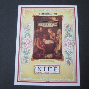 Niue 1991 Sc 603 Christmas Religion set MNH