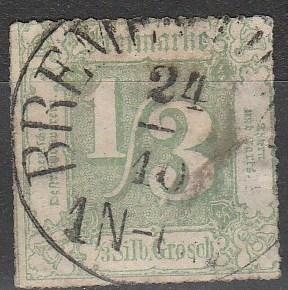 Thurn & Taxis #22 Used CV $240.00 (A16122)