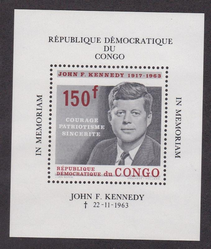 Congo Democratic Republic # 520, John F. Kennedy, NH, 1/2 Cat