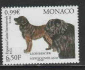 MONACO #2202 2001 INTERNATIONAL DOG SHOW MINT VF NH O.G