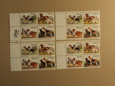 USPS Scott 2098-2101 20c USA Lot Of 4 Plate Block 16 Stam...