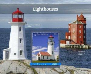 2020/10- LIBERIA - LIGHTHOUSES       1V    MNH **