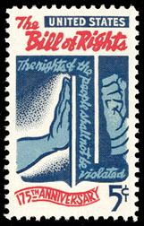 1312 The Bill of Rights F-VF MNH single
