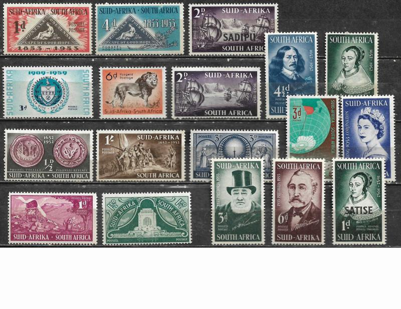 COLLECTION LOT OF 57 SOUTH AFRICA STAMPS CLEARANCE MOSTLY MH 9 SCAN