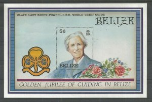 1987 Belize Girl Guides Lady BadenPowell SS
