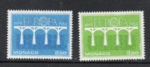 Monaco Sc 1424-25 1984  Europa stamp set mint  NH