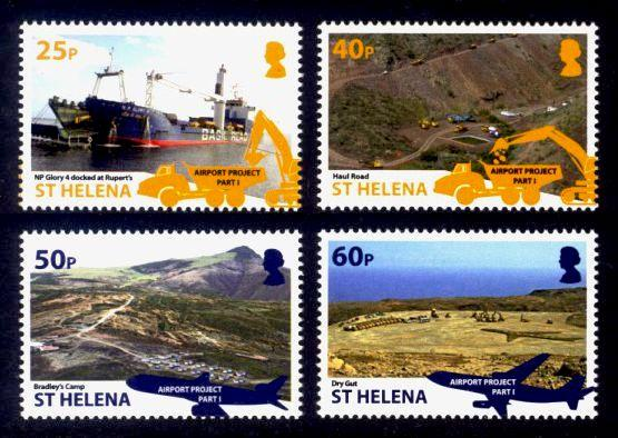 St. Helena Sc# 1081-4 MNH Airport Project