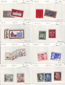 Z653 JLstamps germany DDR mh with sets in sales cards, all checked & sound
