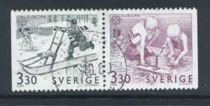 Sweden 1737 - 8 Used Attached Pair (4