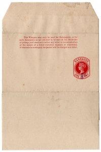 (I.B) Barbados Postal : Newspaper Wrapper ½d on 1d OP