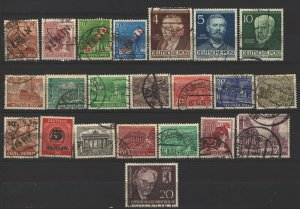 COLLECTION LOT # 4936 GERMANY BERLIN 22 STAMPS 1948+ CV+$13