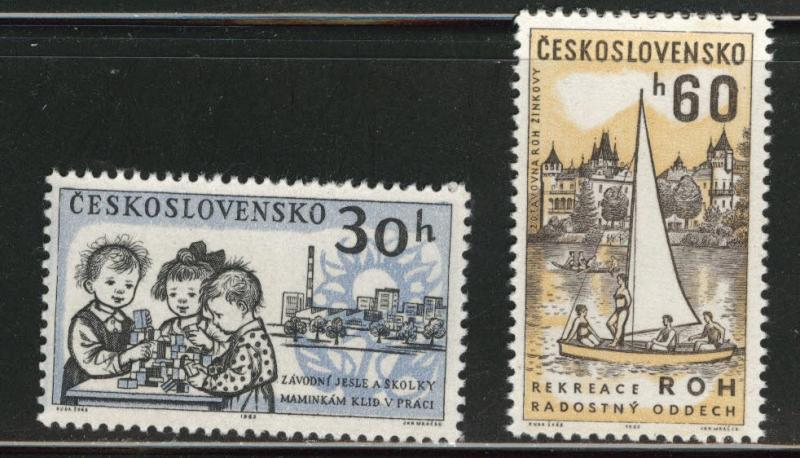 Czechoslovakia Scott 1135-36 MNH** 1960 set