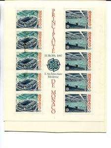 Monaco 1987 Europa mini sheet   Mint VF NH
