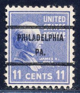 Philadelphia PA, 816-71 Bureau Precancel, 11¢ Polk