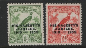 NEW GUINEA   46-47  MINT HINGED  JUBILEE SET