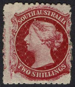 SOUTH AUSTRALIA 1876 QV 2/- WMK BROAD STAR
